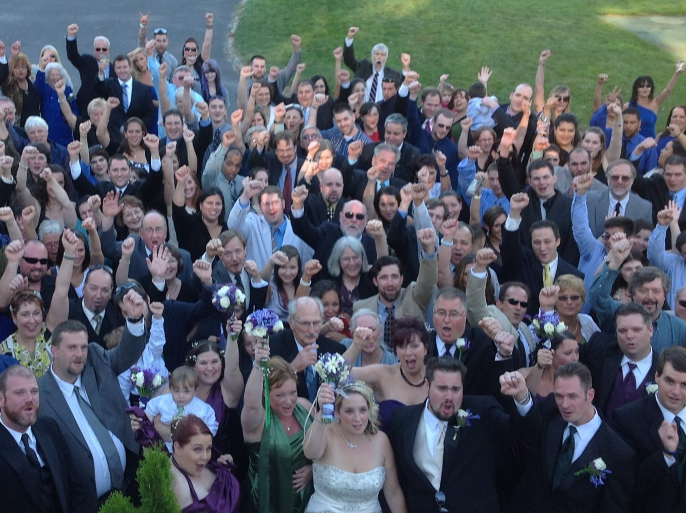 wedding fun with family and friends